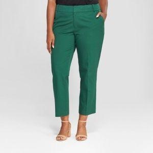 Plus Size Ankle Pants Ava & Viv Green 14W